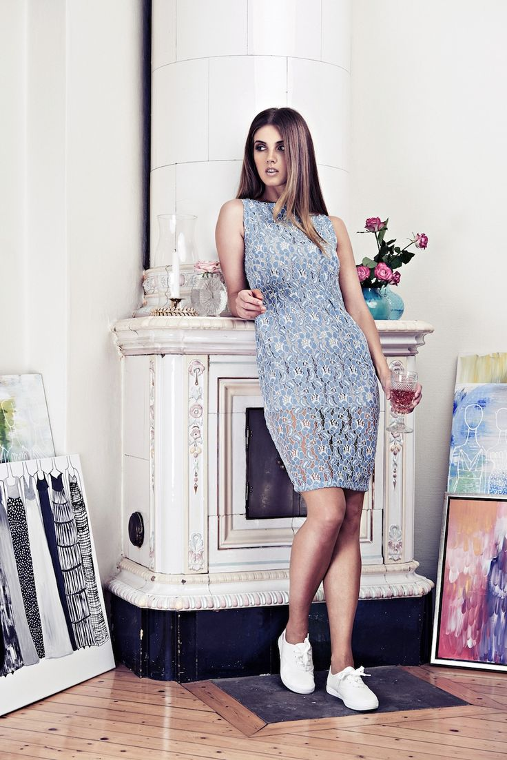 Lookbook SS15 Viktoria Chan fashion label, Scandinavian fashion, Baby blue lace dress