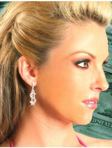 Dollar Sign Earrings | Fashion Earrings | Jewelery | StringsAndMe
