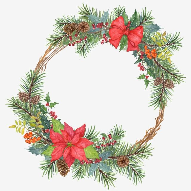 Wreath 4 Photo Frame Wreath Christmass Png Transparent Clipart Image And Psd File For Free Download Christmas Wreath Clipart Flower Frame Floral Wreath Watercolor