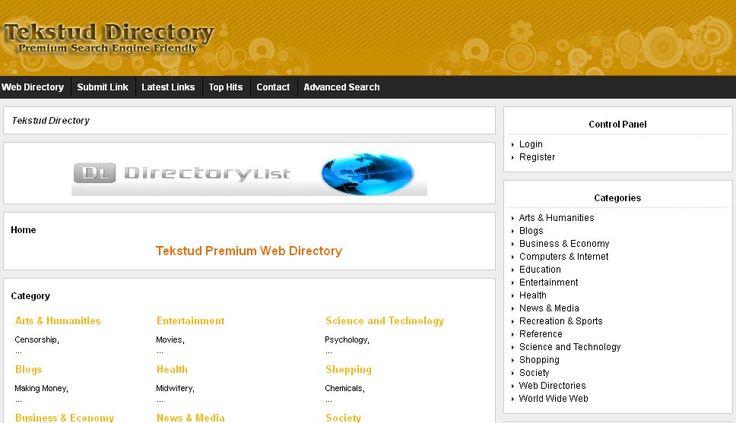 Tekstud Premium Web Directory http://www.tekstud.com/
