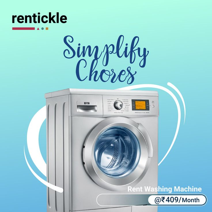 Finally, a laundry day that you won't be mad about.  Rent now: link in bio.  Relax and let our premium washing machines take care of the rest! . . . #…