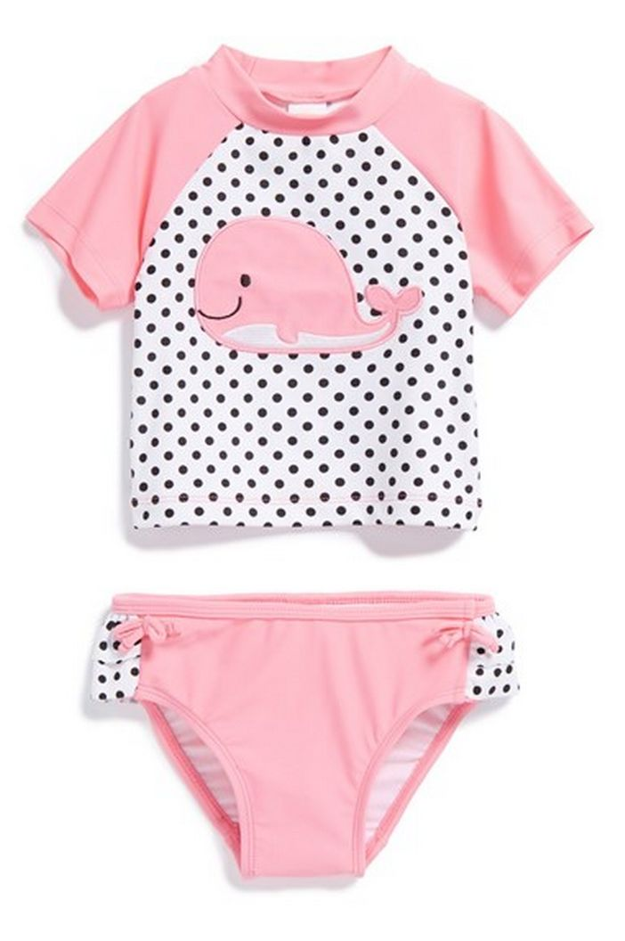 adorable kids two-piece rashguard