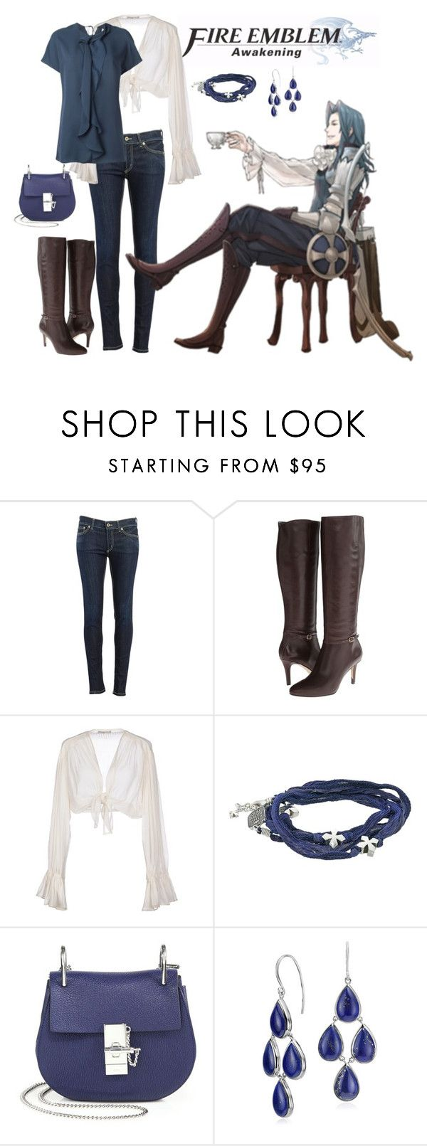 """Virion: Fire Emblem Awakening"" by marielw97 ❤ liked on Polyvore featuring Dondup, Cole Haan, Mes Demoiselles..., King Baby Studio, Chloé, Blue Nile and 3.1 Phillip Lim"