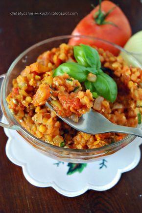 Moje Dietetyczne Fanaberie: Leczo z soczewicą i pieczonymi warzywami