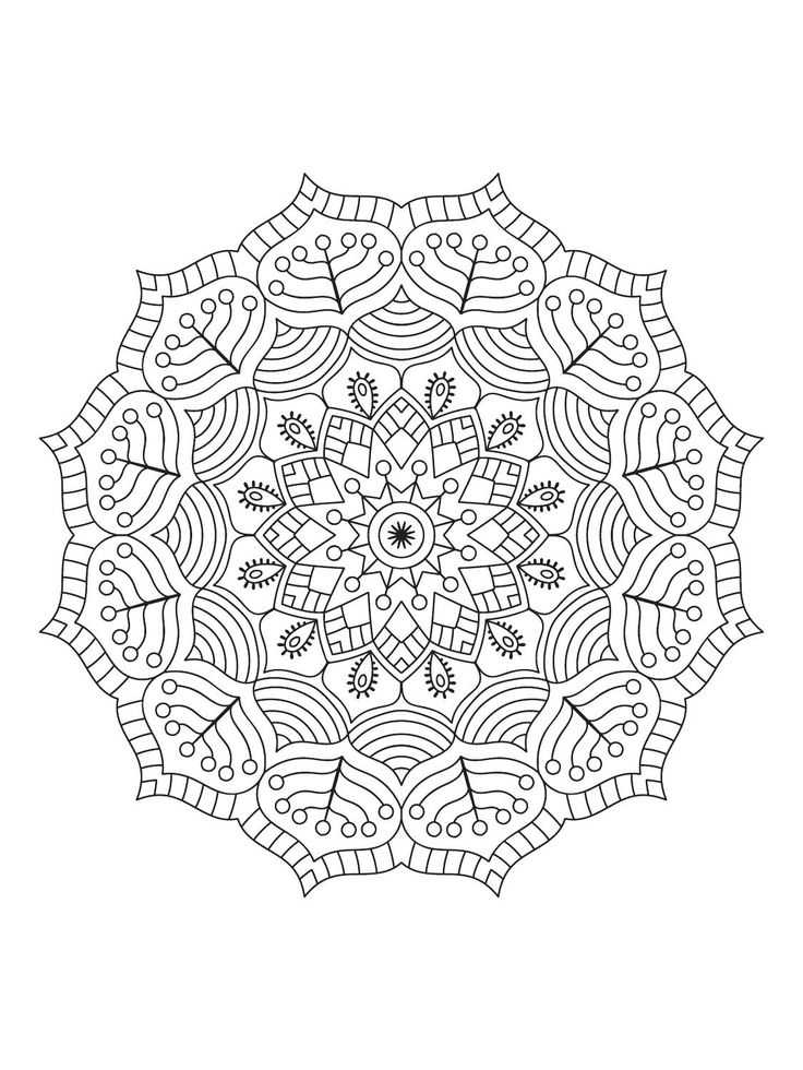 Mindfulness Mandalas Nº1   Desenler