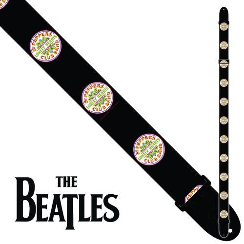 7% Off Perri's Guitar Strap Polyester - Beatles Sgt Peppers - Licensed Item