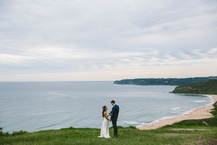 Burwood Beach lookout. Newcastle wedding photographer. Image: Cavanagh Photography http://cavanaghphotography.com.au