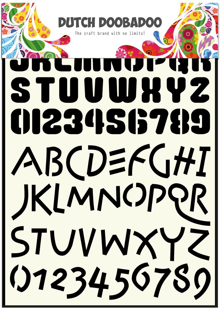 470.455.005 Dutch Doobadoo Alphabet Stencil