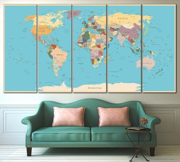 170 best world country maps images on pinterest country maps push pin world map 807 canvas print gumiabroncs Choice Image