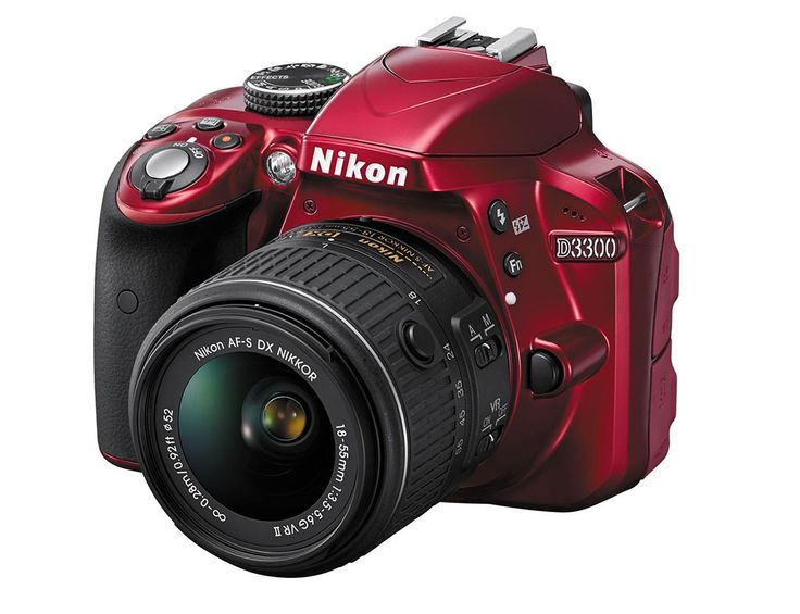 Nikon D3300 kit 18-55mm VR AF-P Red- ElectroStudio