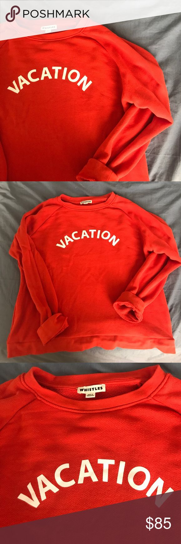 Whistles Vacation Crewneck Sweatshirt Worn three times. Washed according to care instructions. Looks brand new. Size large. I am a size medium and it has a slightly oversized fit on me. Whistles Tops Sweatshirts & Hoodies