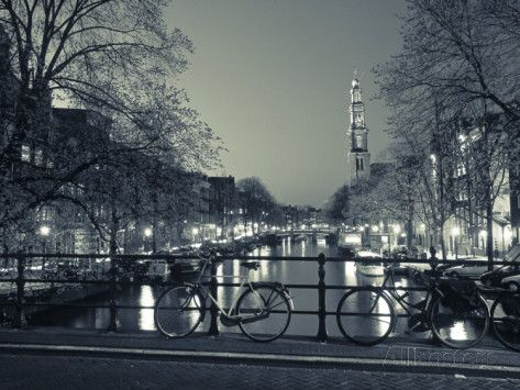 Prinsengracht and Wsterkerk, Amsterdam, Holland Photographic Print by Jon Arnold - at AllPosters.com.au