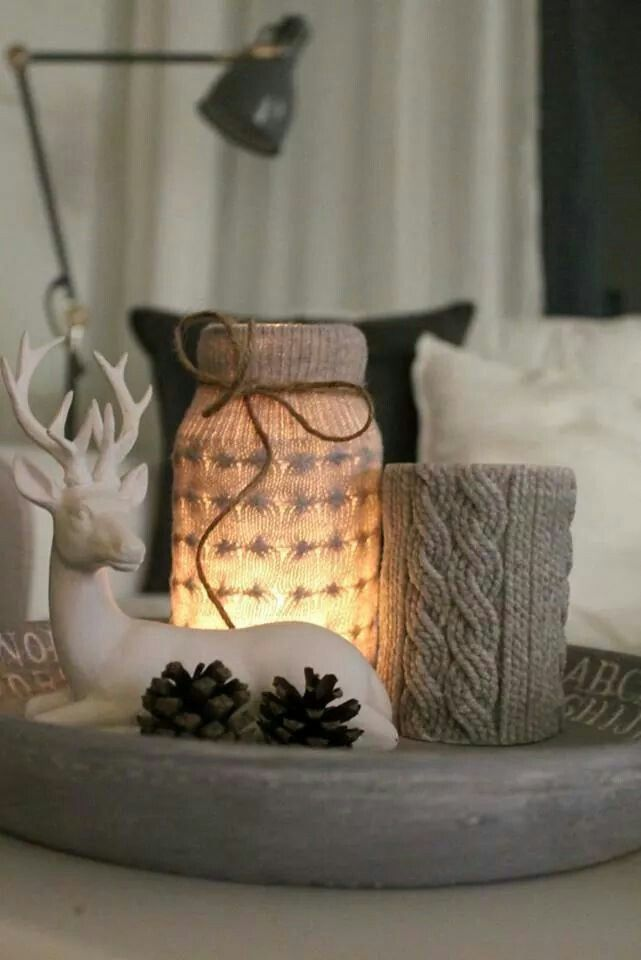 Creative tealigh, winter feeling