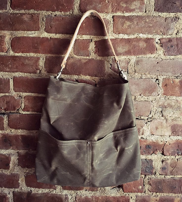 Waxed Canvas Bucket Tote   Easy-going and durable, this waxed canvas bucket tote is built...   Tote Handbags