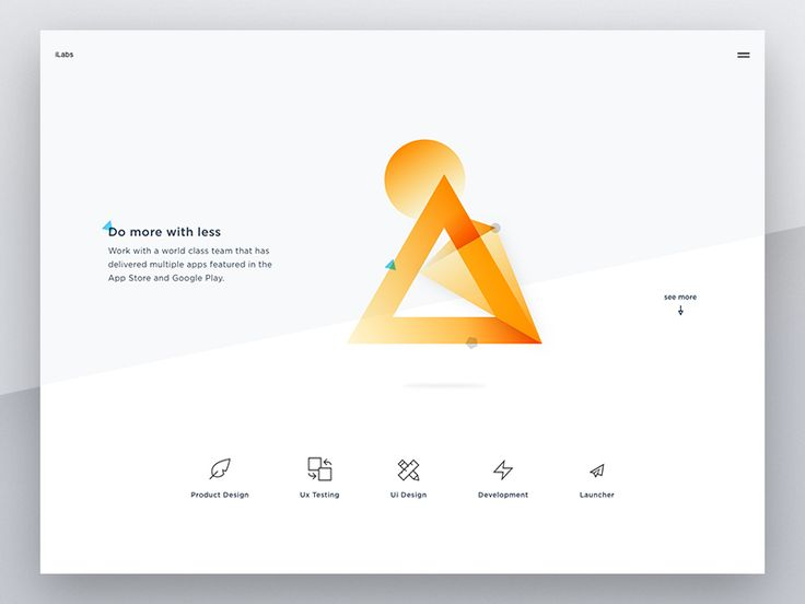 Dello Dribbblers,  That was very hard to pick the final option between option 1 and 2 for iLabs Rebranding Logo. So that I've made some explorations homepage concept to see how is each option worki...