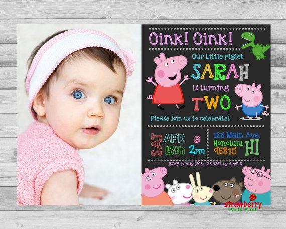 Peppa Pig Invitation Peppa Pig Birthday by StrawberryPartyPrint
