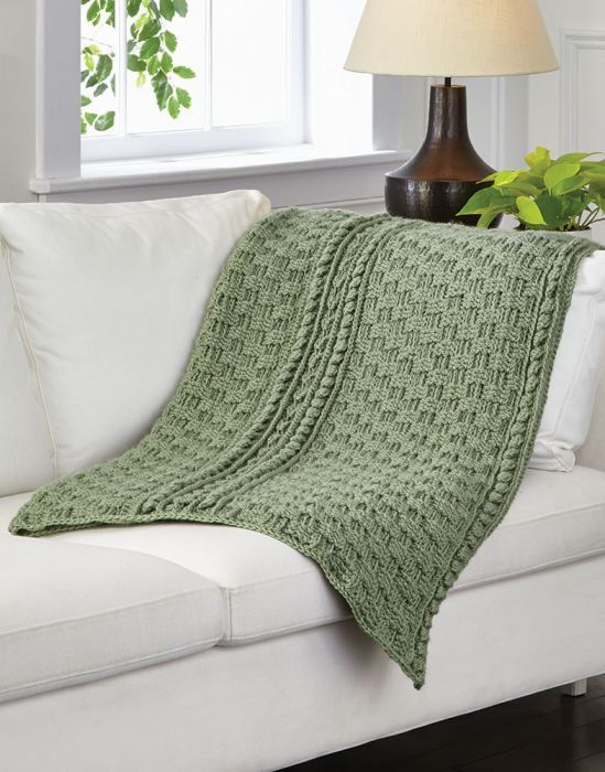 Basketweave & Cables Afghan | Medium Worsted Weight Yarn ...