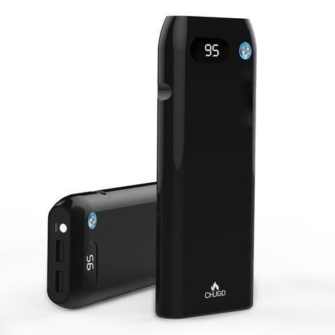 20000 mAh Portable Charger/ Power Bank/ External Battery with Quick Charge 3.0 - CHJGD Magnum Opus Qualcomm Quick Charge 3.0 Portable Charger with LCD Display Backwards compatible with all versions of Qualcomm Quick Charge for Samsung Android iPhone iPad MP3 and more