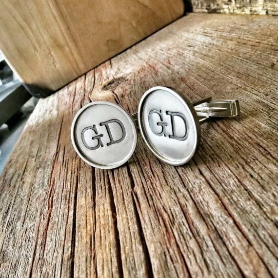 Luxury Gold Cuff Links - Groom, Wedding Party, Custom Gift, Suit & Tie, Tuxedo Accessories 14K Jewelry, Personalized Monogram Cufflinks
