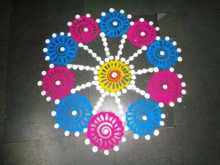 259+ Floral Rangoli Designs & Rangoli Small Easy Designs
