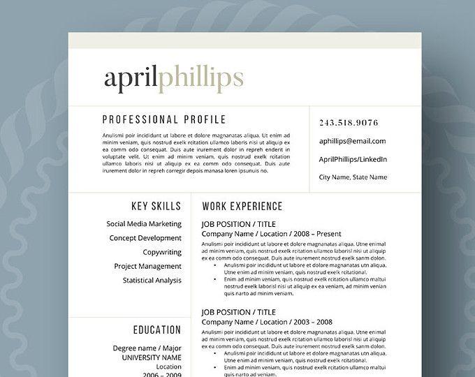 195 best Creative CV Template images on Pinterest Cv resume - resume builder from linkedin