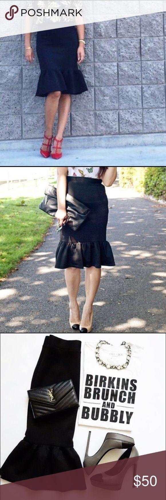 Adorable Black Peplum Skirt Size Small Size small, new without tags, black peplum skirt! Super classy and oh so stylish! Skirts Midi
