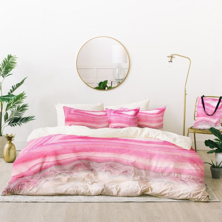 Emanuela Carratoni Sweet Pink Agate Bed In A Bag | Deny Designs