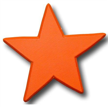 Star Bright Orange Drawer Pull