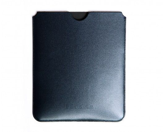 Classic Navy Leather IPad Case