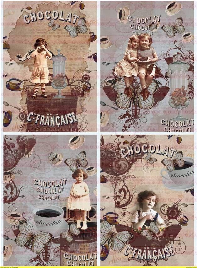 Kind Schokolade french auf  A4