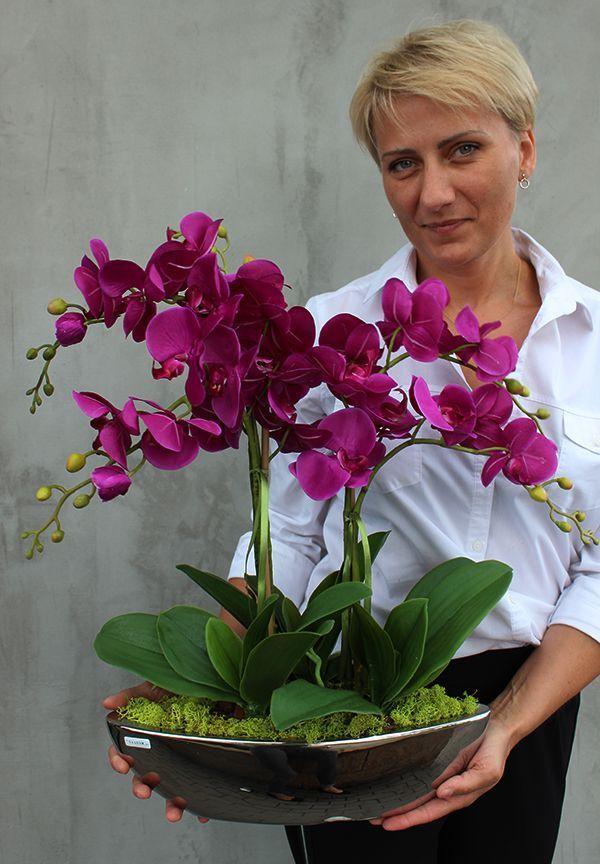 Artificial Orchid Www Tendom Pl Arranjos De Flores Artificia Em