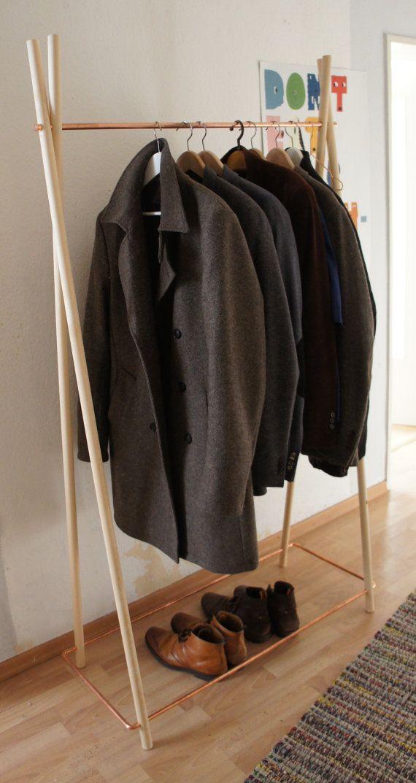 Wood & copper wardrobe