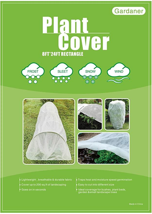 Amazon Com Gardaner Plant Covers Freeze Protection 0 9oz 8ft X 24ft Rectangle Plant Cover For Cold Protection A In 2020 Plant Covers Freeze Protection Winter Plants