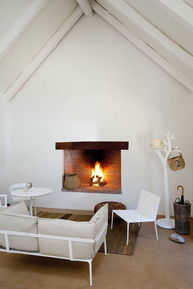 babylonstoren simplicity of this fireplace appeals to me