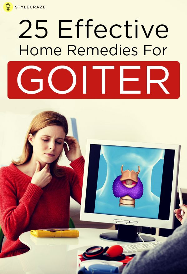Goiter is an enlargement of the thyroid gland that accompanies many other symptoms. There are many remedies for goiter you can try which help relieve the condition.