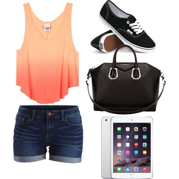 SUMMER LOVE♡ by jeanettejeanette on Polyvore featuring polyvore fashion style VILA Vans Givenchy