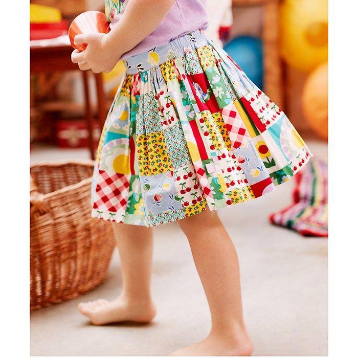 Mothercare Little Bird Patchwork Mini Skirt