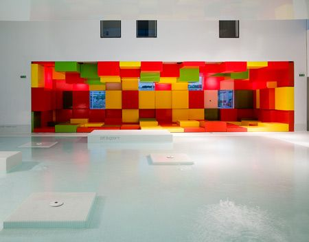 Les Bains des Docks is an aquatic centre in Le Havre, France, designed by French architect Jean Nouvel.