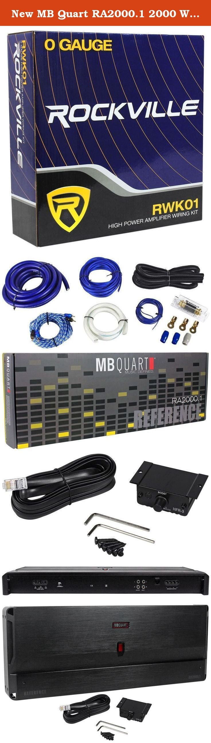Vm Audio 4 Gauge Amplifier Wiring Kit W 45 Farad Power Amp Installation Ofc Ebay New Mb Quart Ra20001 2000 Watt Rms Class D Mono Reference Car Hey Folks Thanks For Checking Out The