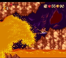 Aladdin on SNES. A favorite video game of my childhood.