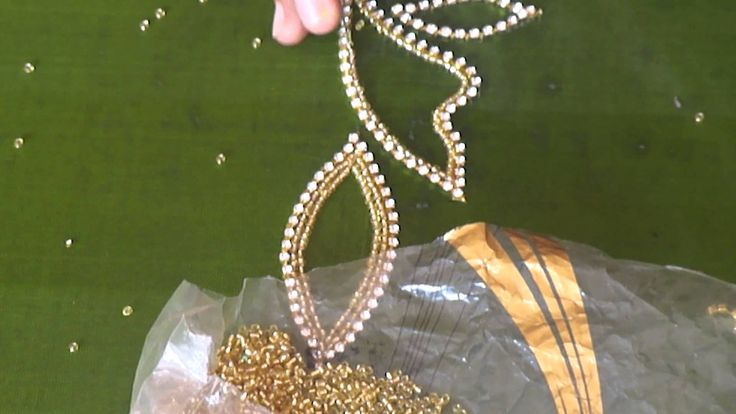 A full design of paani chain in aari or maggam work