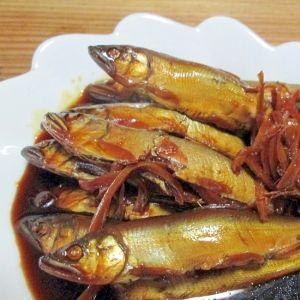 小鮎レシピ・作り方の人気順|簡単料理の楽天レシピ 小鮎の甘露煮(圧力鍋使用)