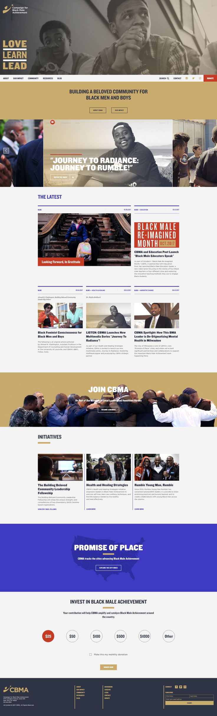 Black Male Achievement #design #webdesign #inspiration