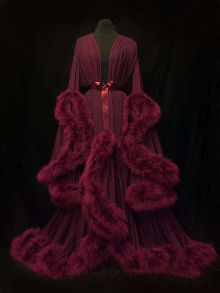"""Image of """"Cassandra"""" Extravagant Marabou Dressing Gown (Deluxe Edition!)"""