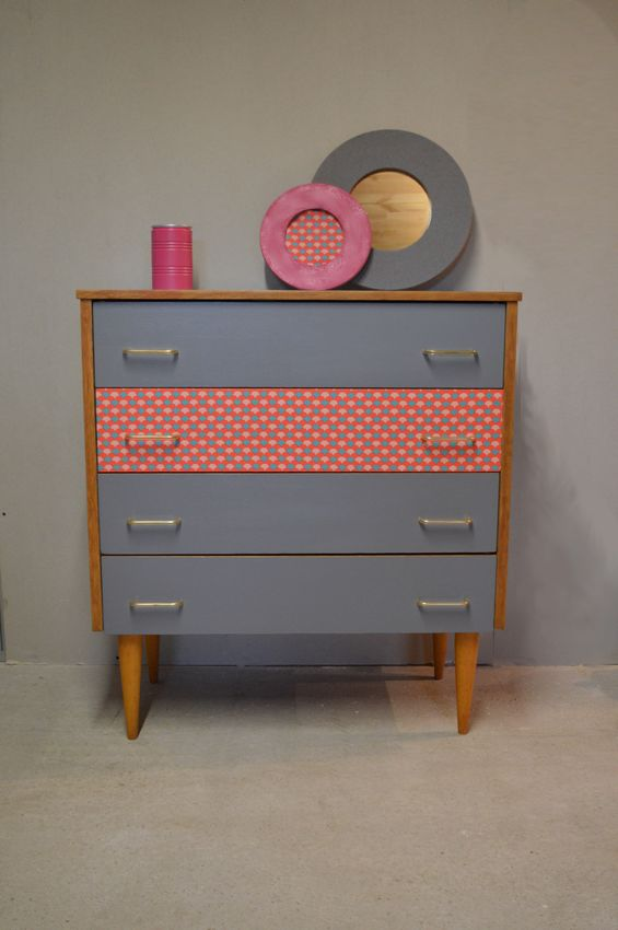 Commode vintage « Marine »