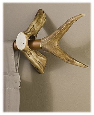 Replica Antler Curtain Rod Accessories - Forked Curtain Rod Ends | Bass Pro Shops