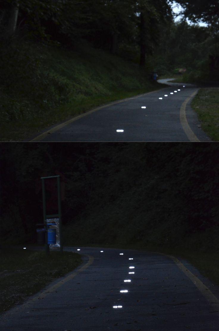 Installazione Geco Circle lungo la pista ciclabile di Cittiglio (VA) - E' partita al meglio e ha già riscosso tanti consensi la nuova iniziativa comunale per illuminare gli spazi pubblici! www.gecoluce.it