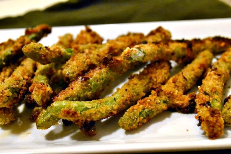 baked green bean fries. so yummy!