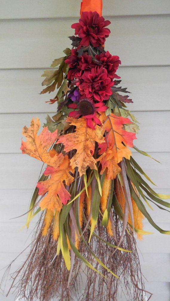 22 Best Decorated Brooms Images On Pinterest Cinnamon Broom