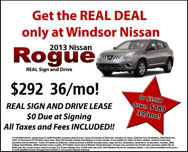 Lease the 2013 Nissan Rogue at Windsor Nissan